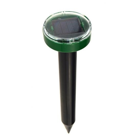 Classic 1/2PCS Eco-Friendly Solar Power Ultrasonic Gopher Mole Snake Mouse Pest Reject Repeller