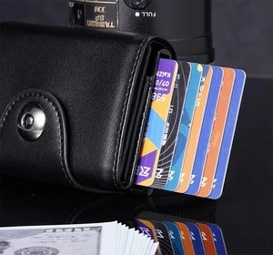 RFID Blocking Pocket Wallet with Pop-up Function