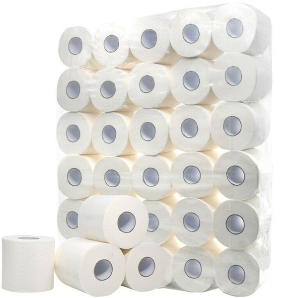 White Toilet Paper Toilet Roll Tissue Roll 3Ply Paper Towels Tissue Soft and ECO