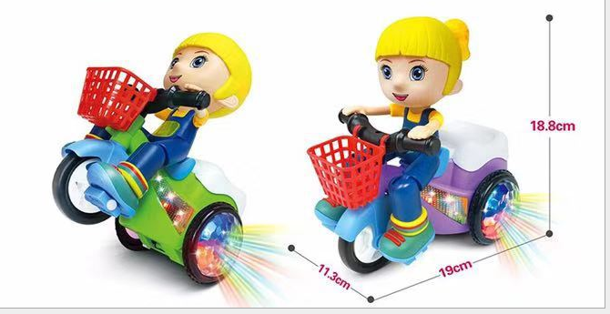 360-degree tipping electric stunt universal tricycle