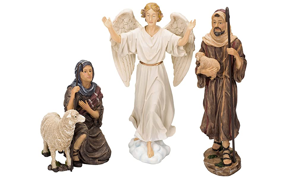 🔥 Only $28.98 BUY 1 GET 1 FREE(Manger included)🔥 Real Life Nativity Set