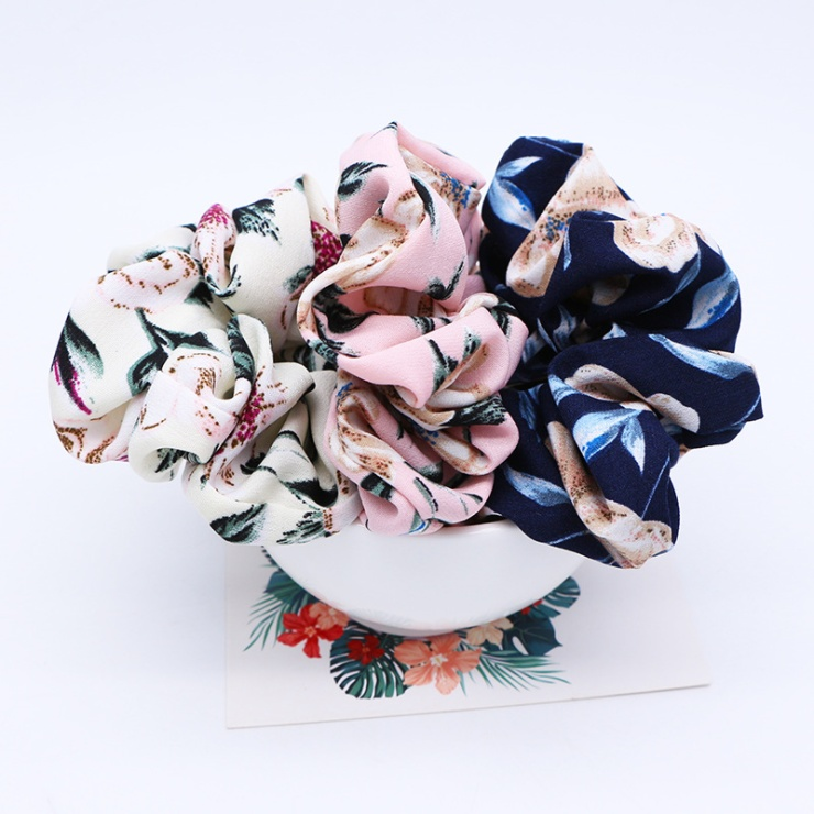 2 Pcs/set New Flower Headband with Ponytail Soft Elastic Hair Ties Turban Floral Bands for Girls Accessories 3 Colors