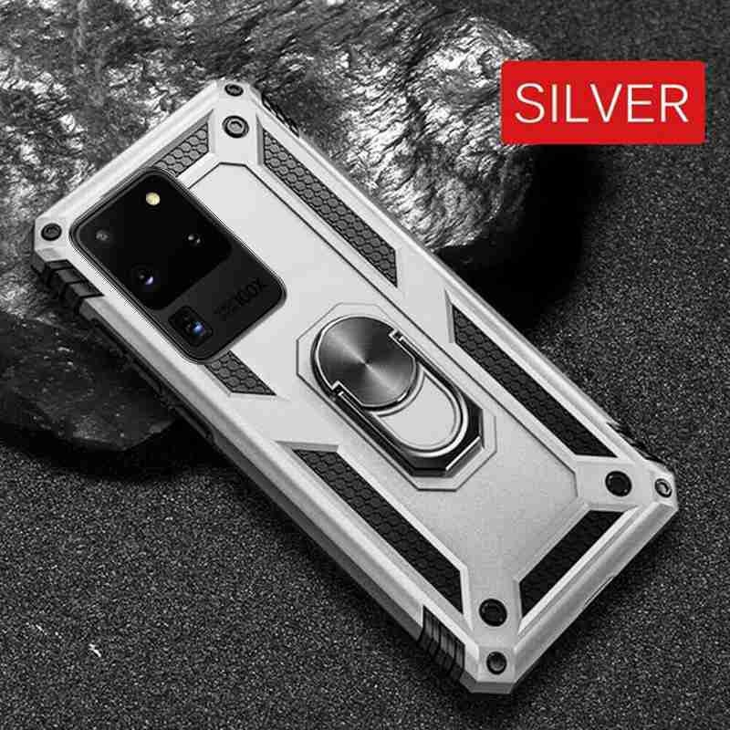 Magnetic Phone Holder Ring Case For Samsung Galaxy S20 Ultra S20 Plus S20 A51 A71 A81 A91 A20E A50 A70 Note10Plus Note10 Note10Lite S10Plus S10 S10e S9Plus S9 Shockproof Hybrid Armor For iPhone 11ProMax 11Pro 11 XsMax Xr Xs X For Huawei P30 P30Lite P30Pr