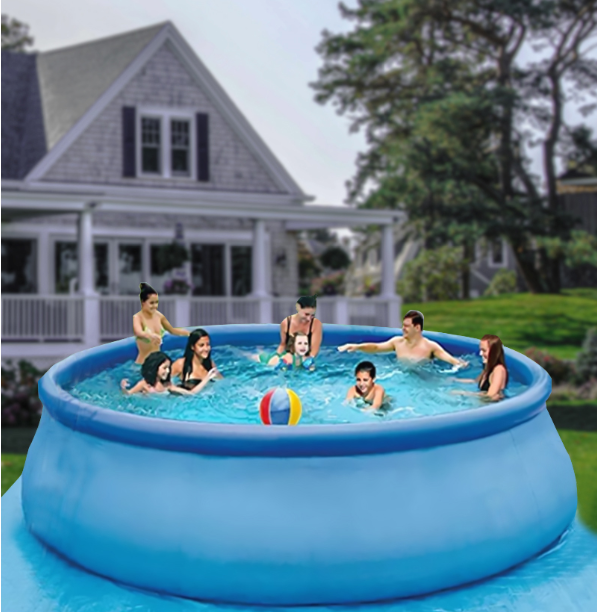 Updated Summer 12 ft x 36 in Easy Set Pool Set with Air Pump /Above Ground Pools