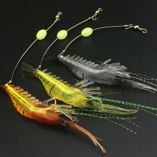 Lifelike Luminous Shrimp Bait - 5PCS SET