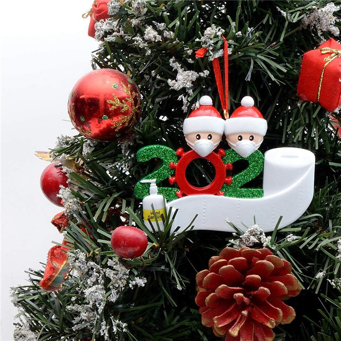 New DIY 2020 Christmas Party resin Decoration Gifts Product Personalized Family Of 4 Ornaments