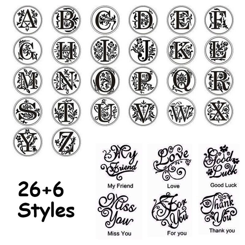 26 Letter A-Z Initial Stamp Alphabet Stamps Wax Stamp Wax Seal Stamp Custom Stamp Letter Stamps Metal  Stamping Letter Envelope Sealing Wax Copper Seal Stamp Art Decorative Metal Sealing Wax Wood Handle Wedding Post Gifts for DIY Wedding Invitations Anci