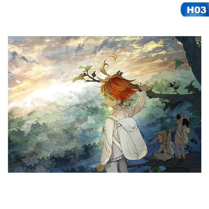 4 Styles 1pcs Cool Anime The Promised Neverland Posters