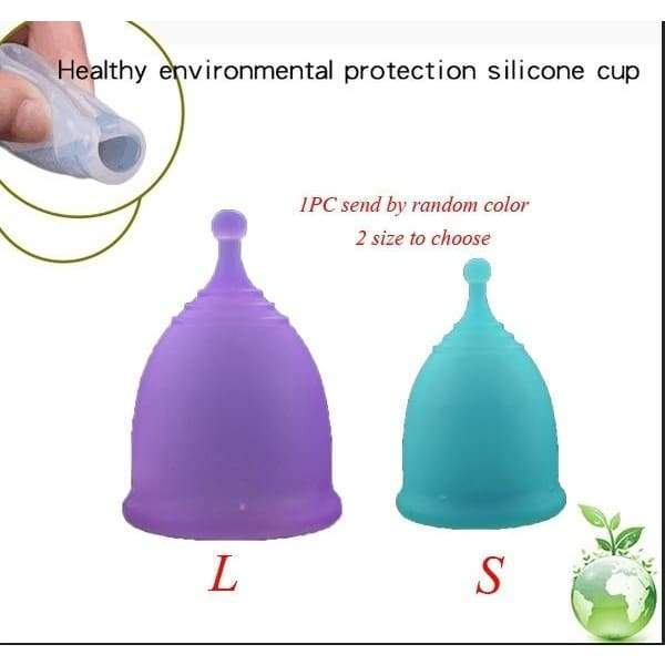 Menstrual Cup Medical Grade Soft Silicone Moon Lady Period Hygiene Reusable Cup XLD