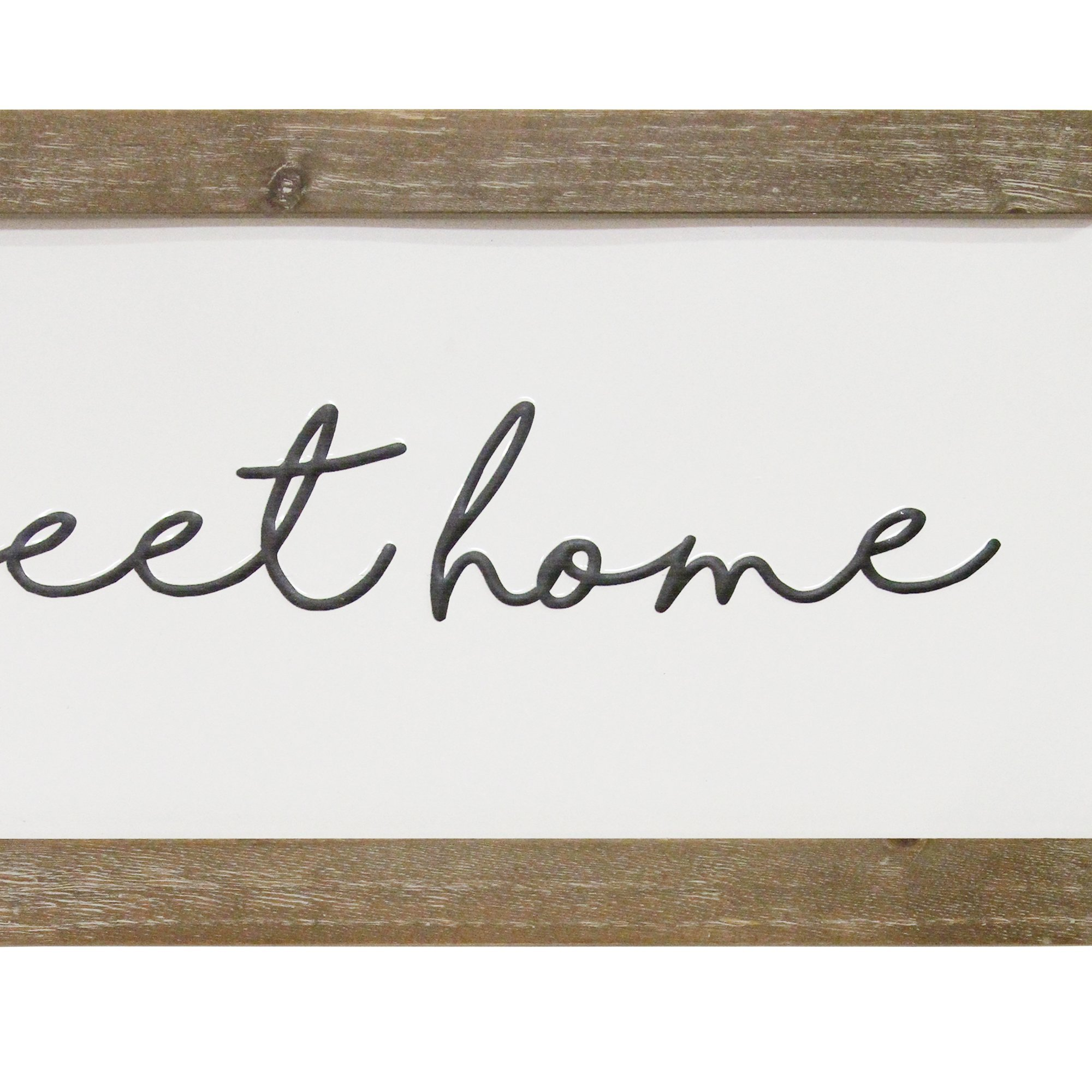 Stratton Home Decor Home Sweet Home Metal and Wood Wall Art