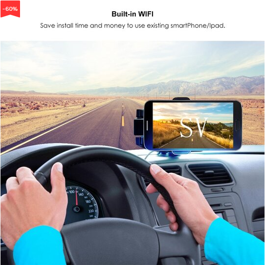 🚕Rear-view camera can be used for U.S. license plates---only 40% discount