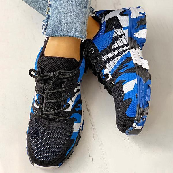 Mokoshoes Platform Breathable Lace-Up Climbing Sneakers
