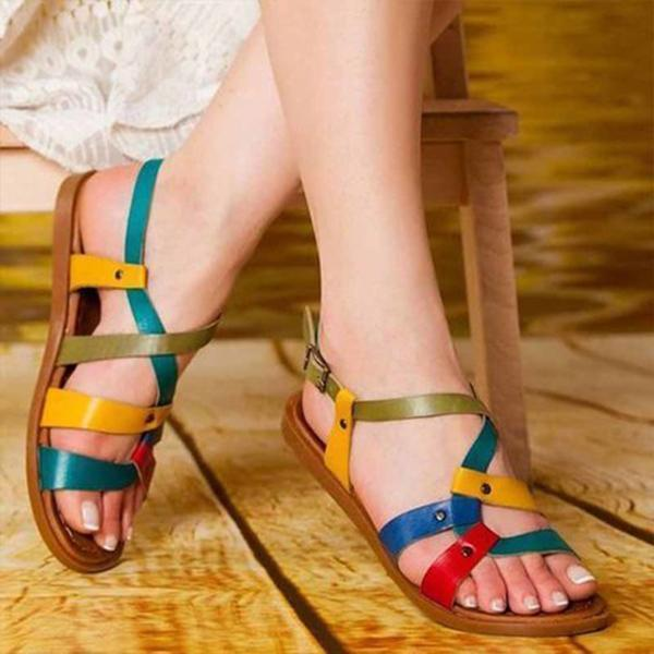 Mokoshoes Color Leather Daily Summer Sandals