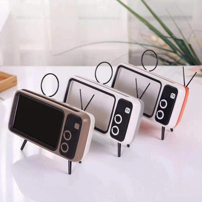 Retro TV BlueTooth Speaker Mobile Phone Holder- Buy 2 Free Shipping