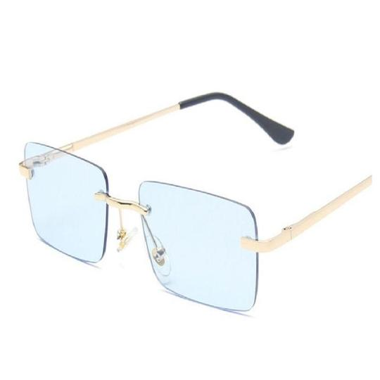 Frameless Sunglasses Female Square Small Frame Marine Tablets - Absolutely Fashion Matching Item