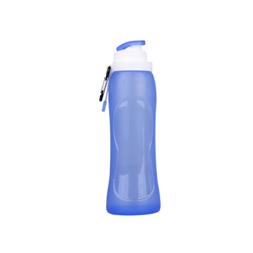 Silicone folding environmental sports bottle