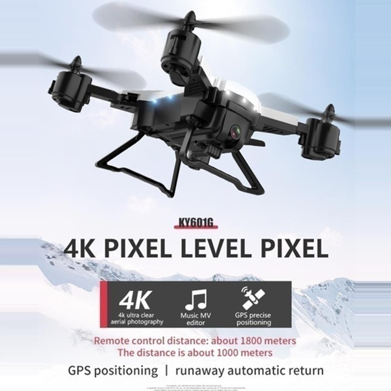 2020 Explosion Drone 5G Real-time Transmission Aerial Drone 4K HD Camera GPS Positioning Cruise Drone,Flight Time Is 20 Minutes,1800mah Large Battery, Choose 2000m Remote Control Distance + Shell