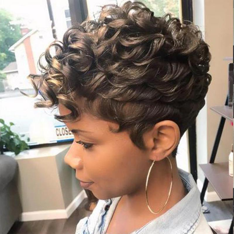 Luna 024 Gorgeous Short Afro Curly Layered African American Wig