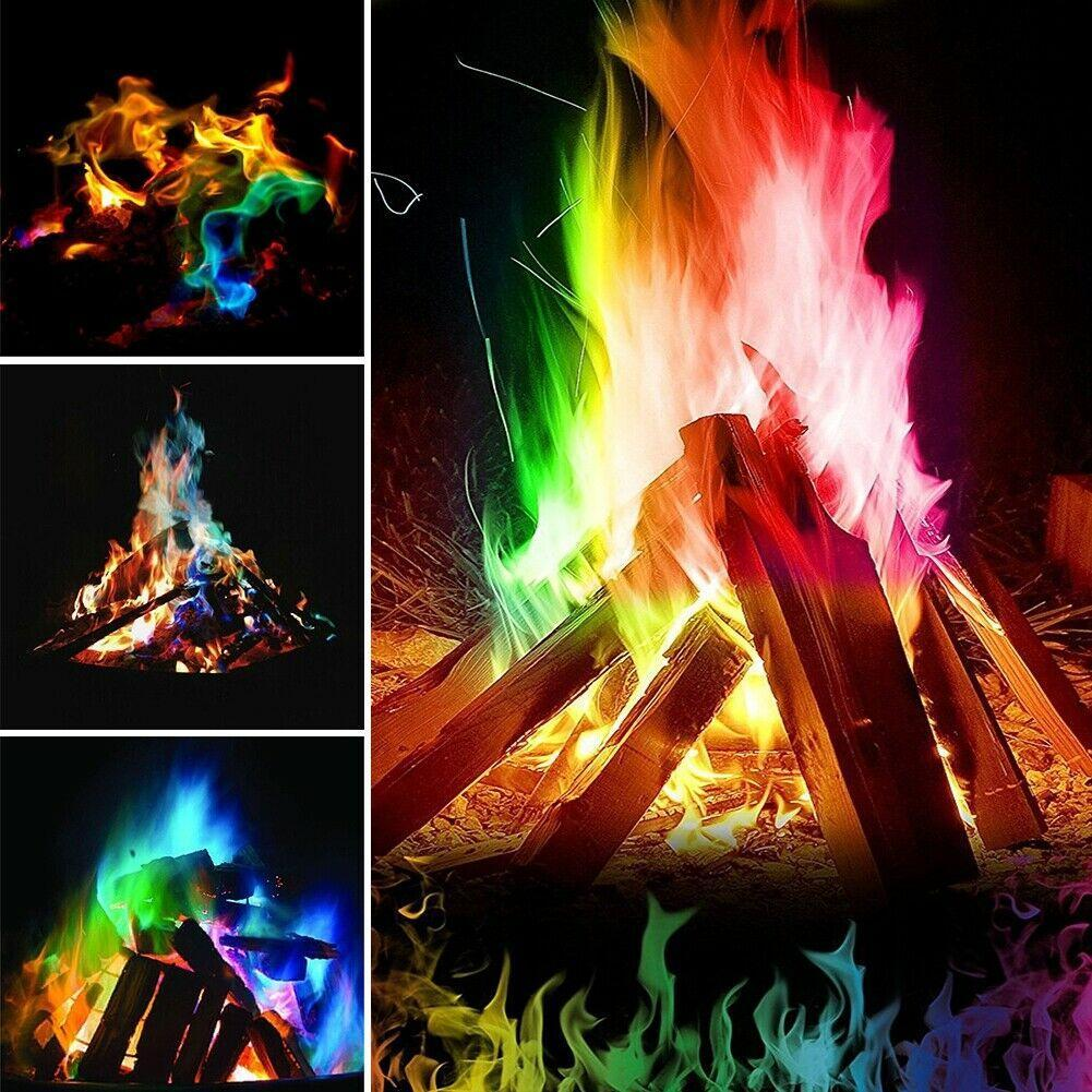 🔥Magic Tricks Colorful Flame Colorant Powder Bonfire Fireplace Outdoor Party Toy🔥