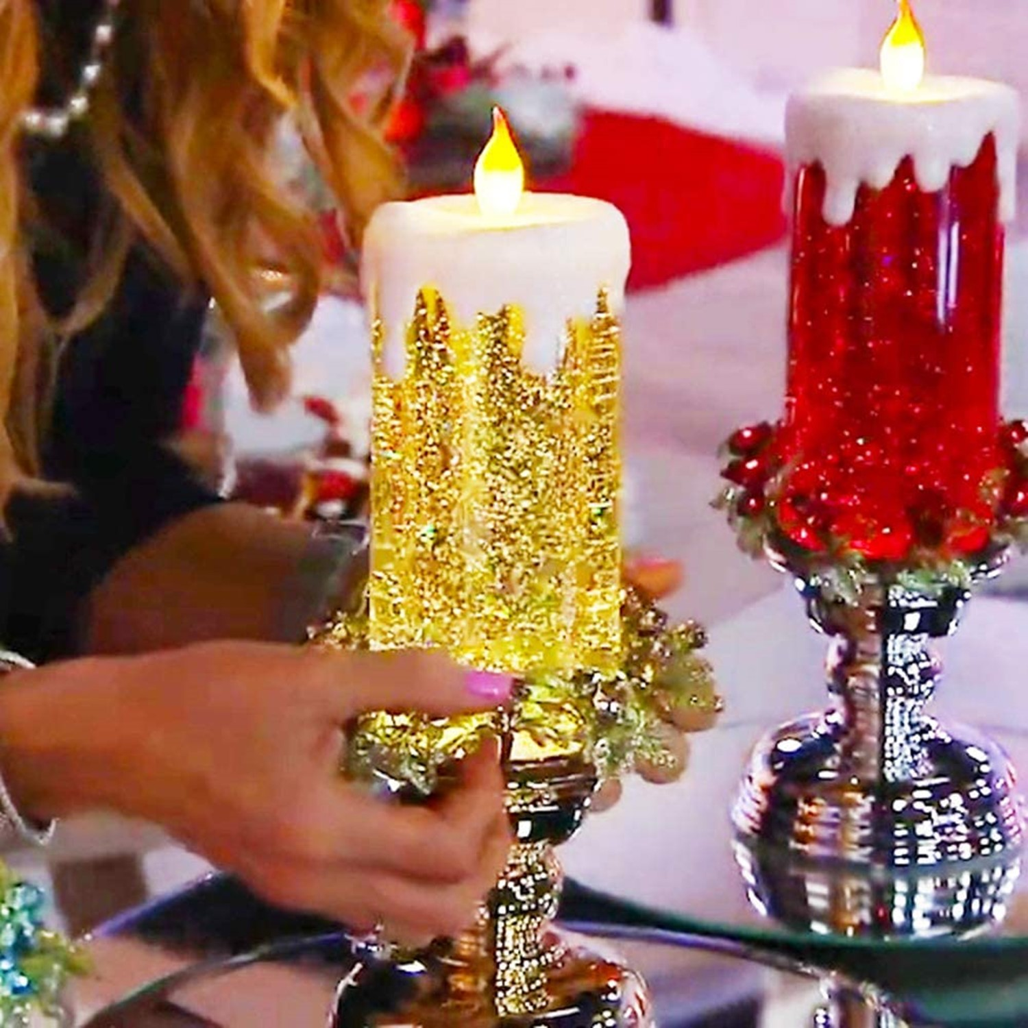 7 Colour Changing LED Water Candle With Glitter🕯