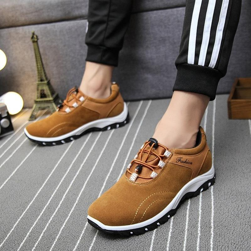 Men's Genuine Leather Hot Sale Waterproof Outdoor Athletic Sneakers