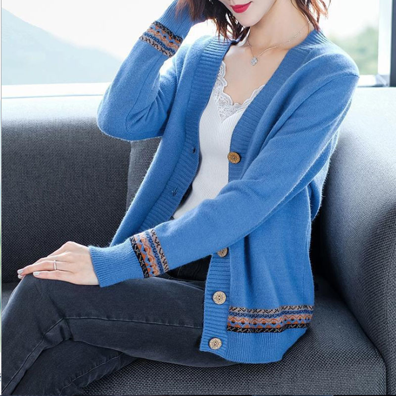 Spring ladies knitwear Thin section Overcoat Sweater coat