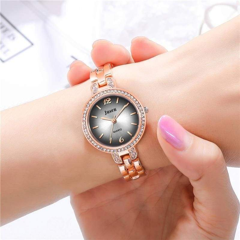 Orologi Donna Elegant Luxury Green Stainless Steel Watch Ultra Thin Fashion Casual Quartz Watches Top Brand Dress Watches Gift