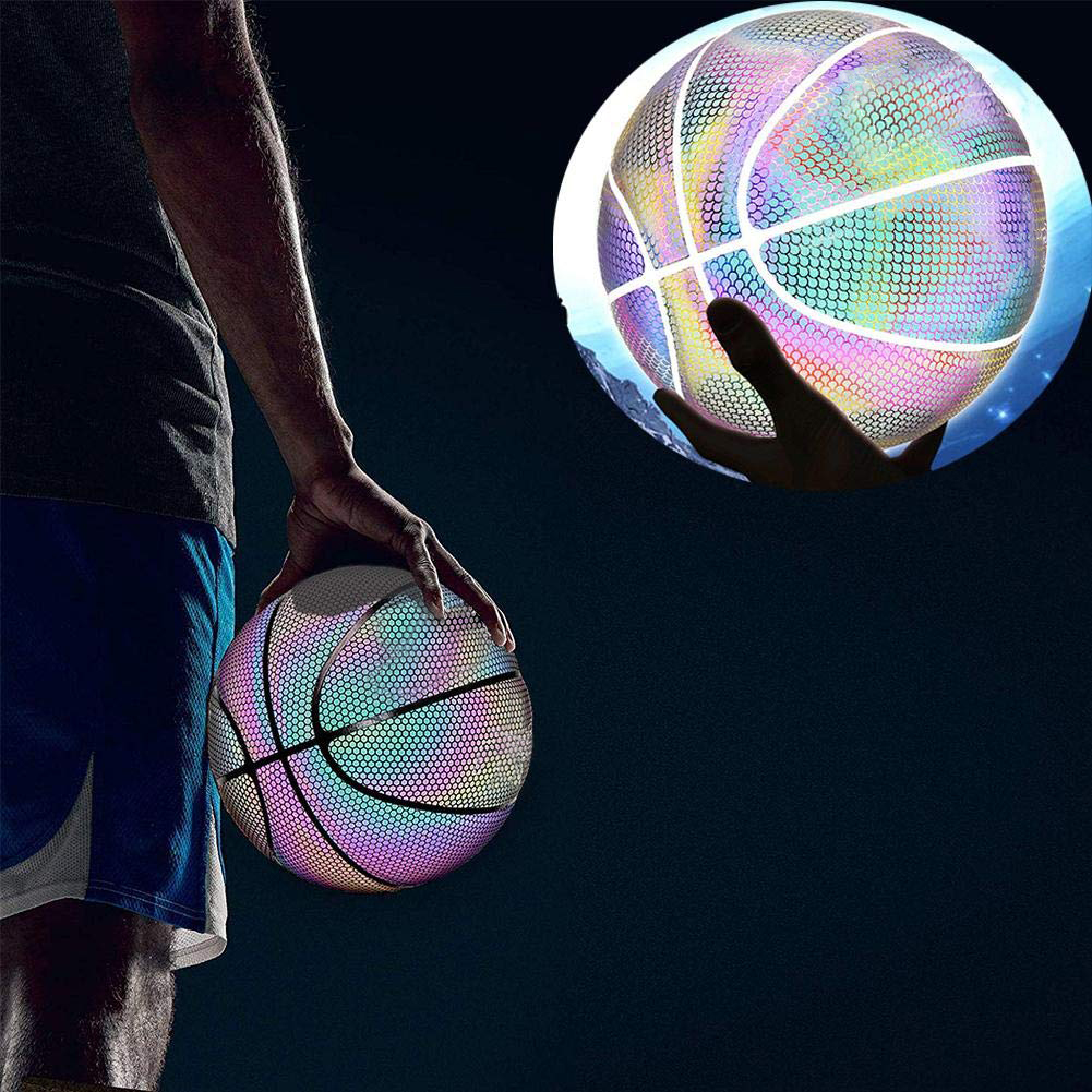 【Last Day Promotion-48% OFF】Holographic Reflective-Glowing Basketball