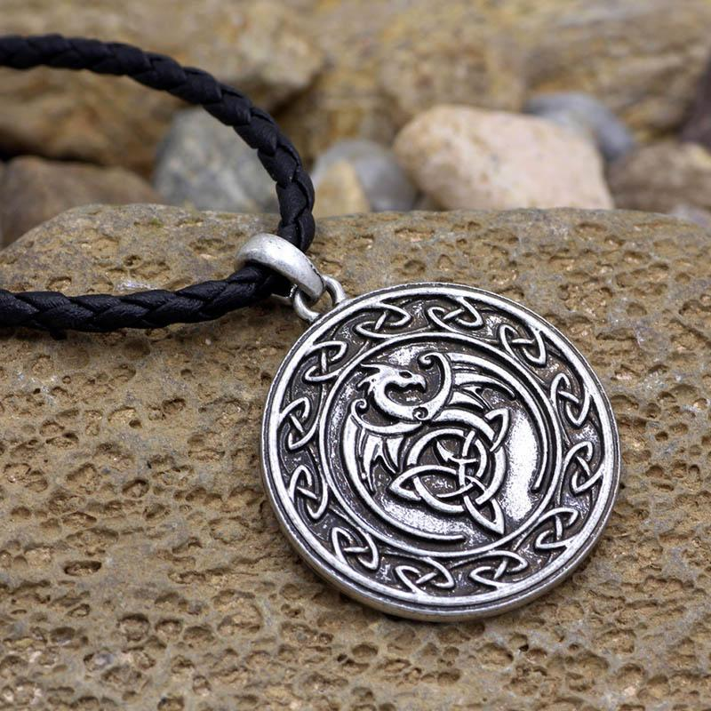 Celtic Dragon Vintage Viking Necklace