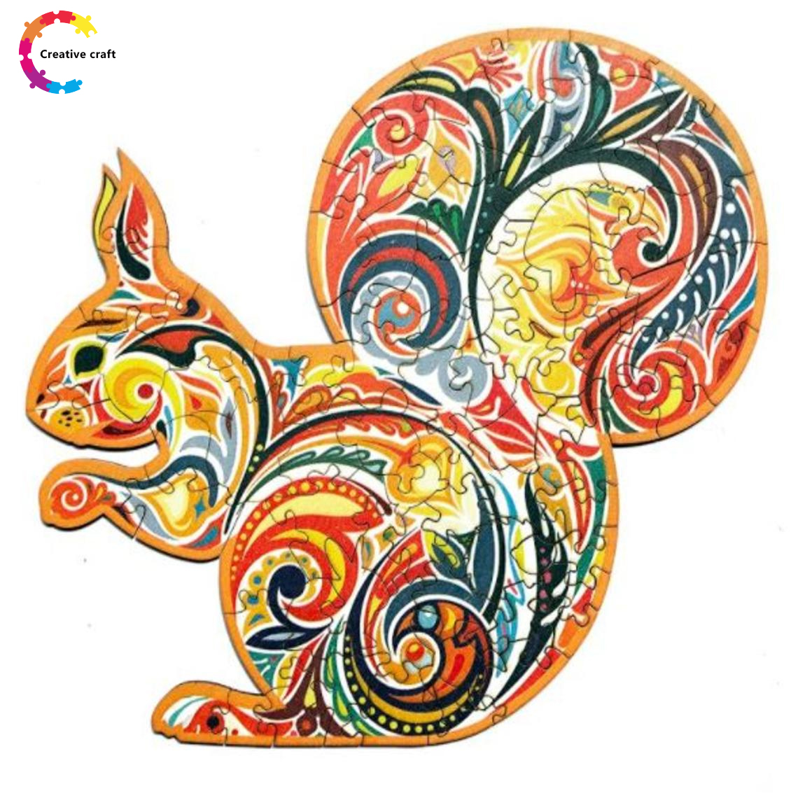 Wooden Jigsaw Puzzle Witty Squirrel