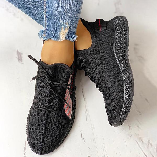 Zoeyootd Lace-Up Breathable Casual Sneakers
