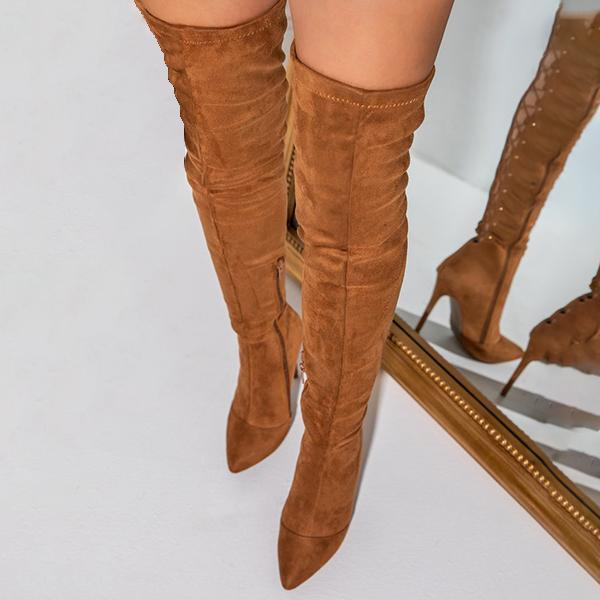 Mokoshoes Over The Knee Lace Up Back Boots