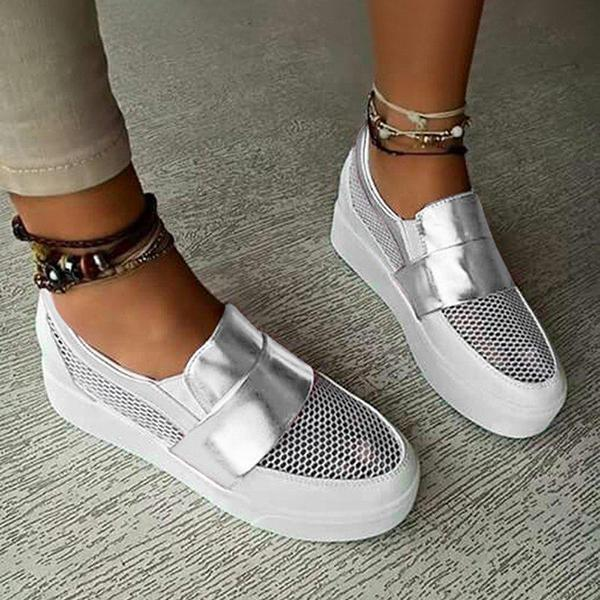 Mokoshoes Women Hollow Out Athletic Sneakers