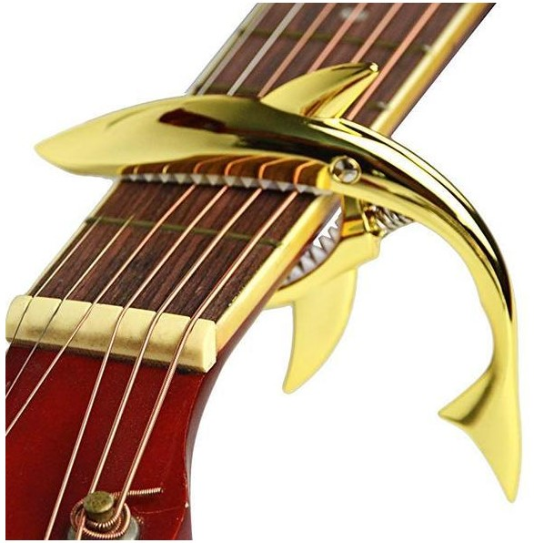 🔥Buy 3 Get 1 Free & Free Shipping👍Shark Capo,Zinc Alloy Tone Clip for Acoustic,Folk,Electric Guitar and Ukulele