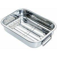 Kitchencraft Small Stainless Steel Roasting Tin With Rack, 27 x 20cm #ibi