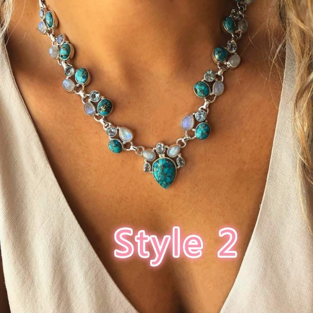 20 Style NEW Fashion Nature Turquoise Vintage Tibet Silver Lovely Elephant bird butterfly peacock cross Heart Charm Bib Collar Statement Pendant Necklace Chain Jewelry Gift