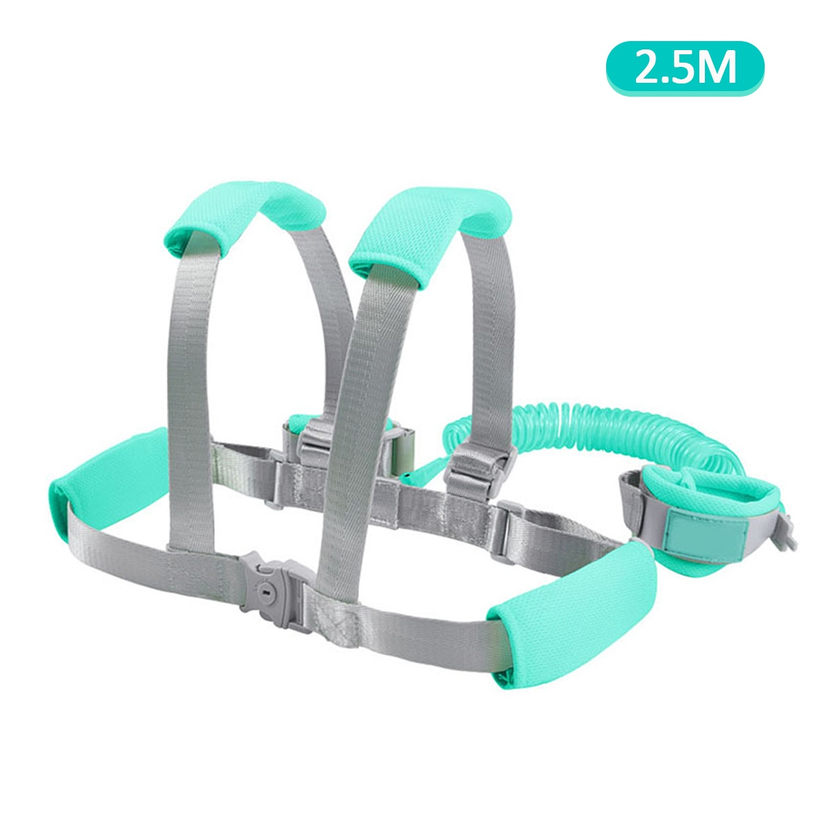 2/2.5M Toddler Kids Baby Anti-lost Safety Walking Harness + Wrist Link Hand Strap Leash
