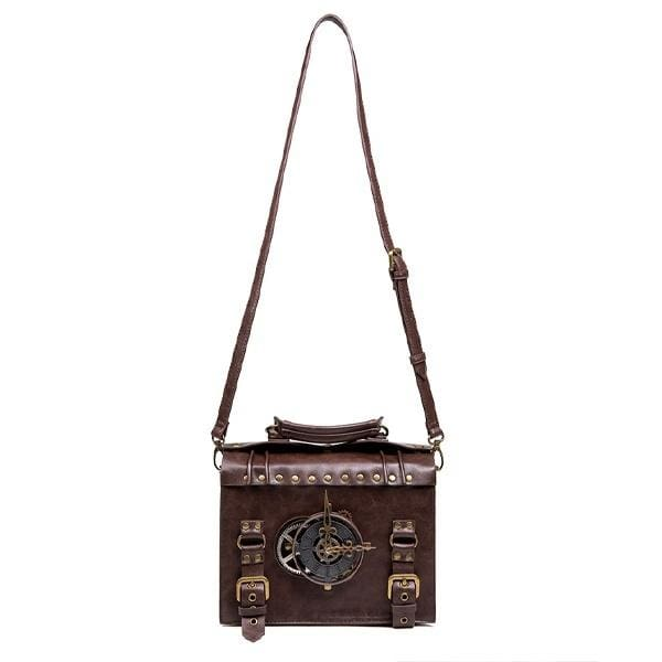 Women's/Men's Retro Steampunk Gear PU Leather Shoulder Bag/Hand Bag