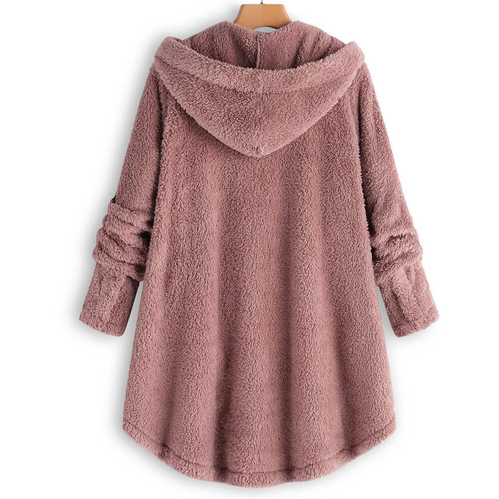 Fluffy Hooded Pullover Loose Sweater