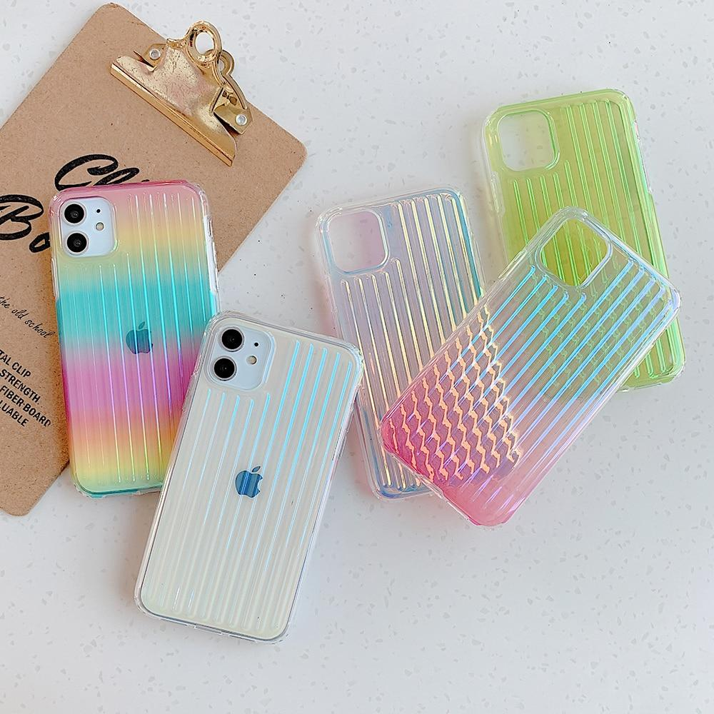 Colorful Clear Stripes Case
