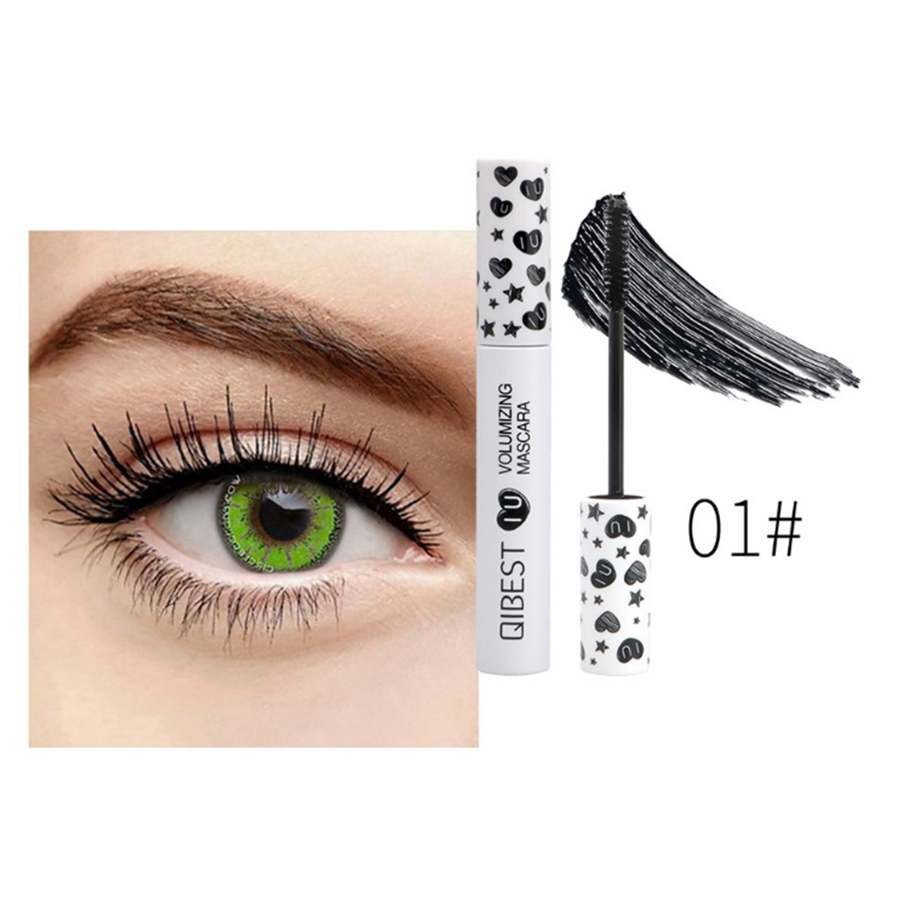 7 Colors Mascara Cream Thick Curling Eyelash Waterproof for Halloween Cosplay Party Red Blue Yellow Purple