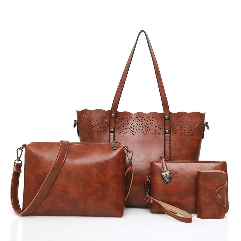 Classic four-pieced set of elegant lady bags