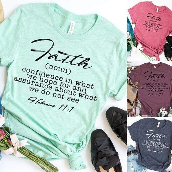 Fashion Women's Christian Tees Autumn Casual Short Sleeve Letter Printing Faith Quote Christian Women's T-shirts Tops S-5XL