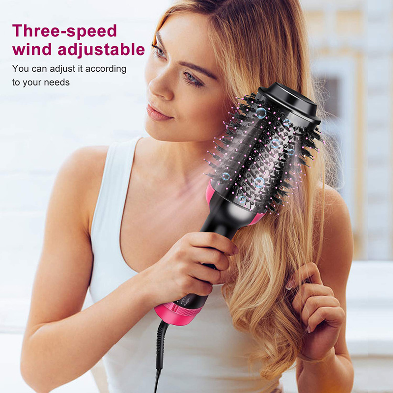Multifunctional hot air comb two in one negative ion straight curler hair dryer comb