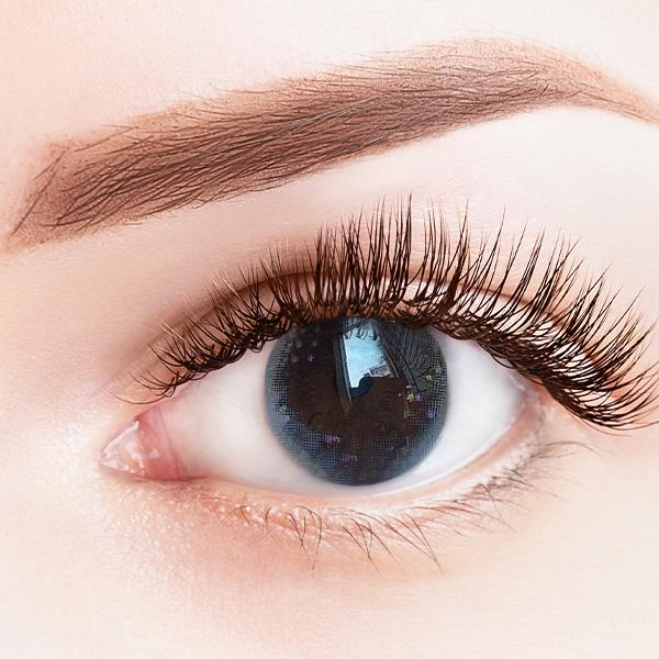 Summer Flower Gray Yearly Colored Contact Lenses