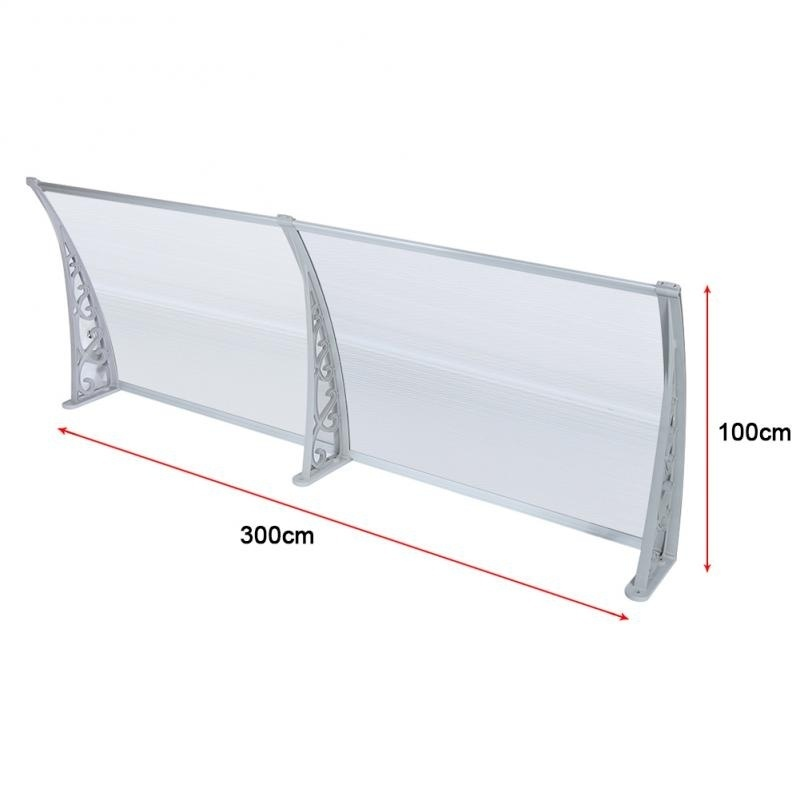 2019 Durable DIY Door Window Canopy Awning Poly carbonate Awning Patio Cover Canopy (7 sizes) Ship from FR