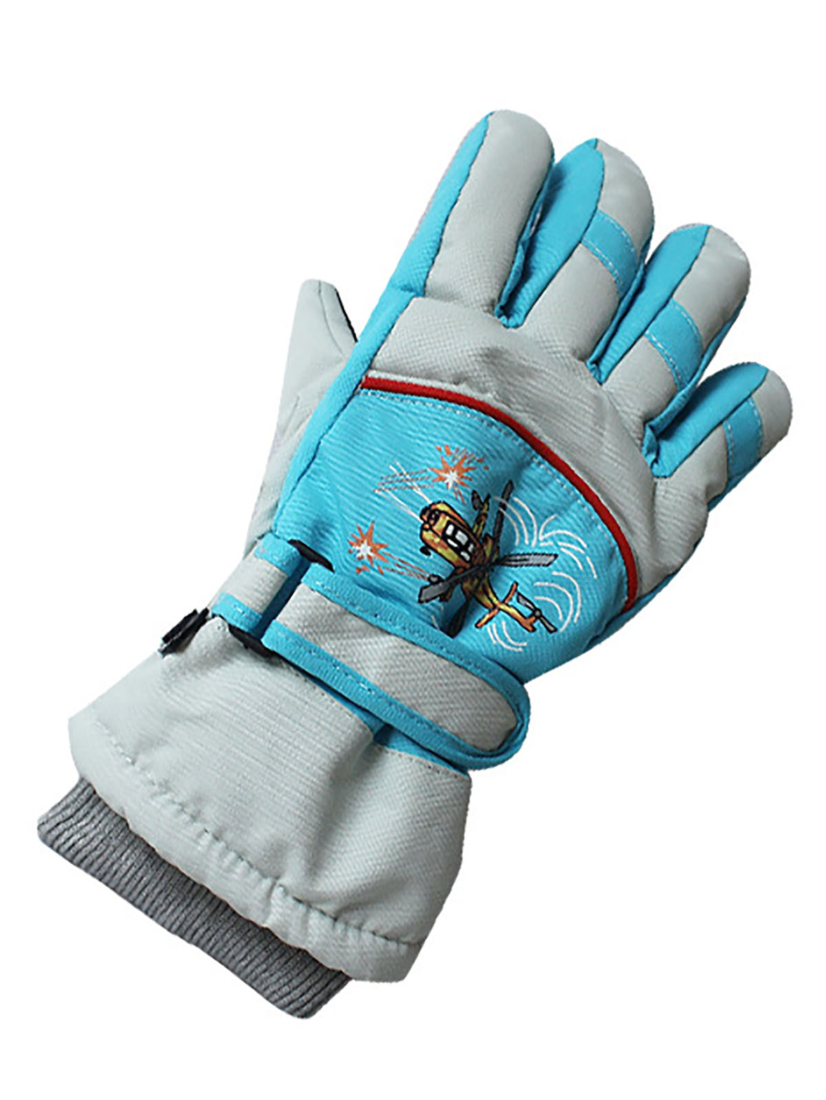 Outdoor ski warm and cold gloves for children aged 4-10