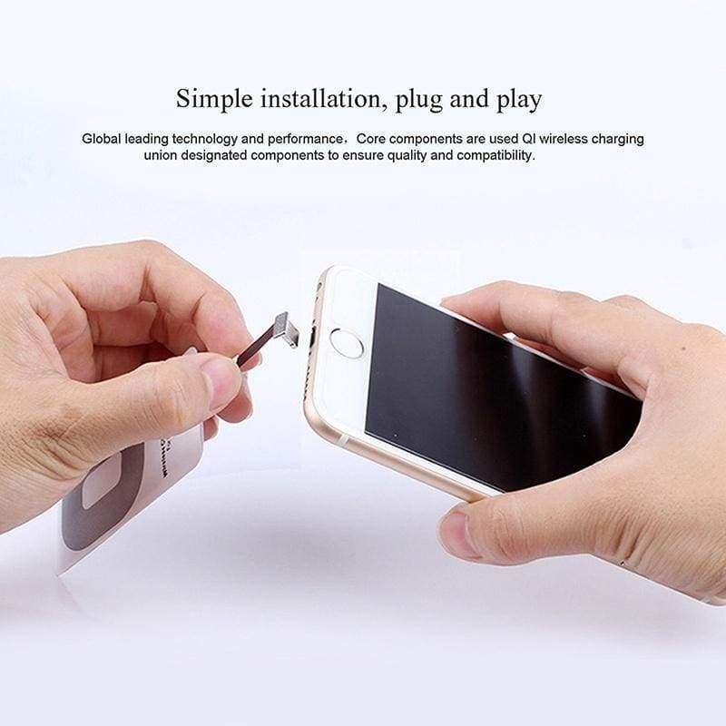 1pc Qi Wireless Charger Adapter Charging Receiver For iPhone Samsung Andriod Type-C