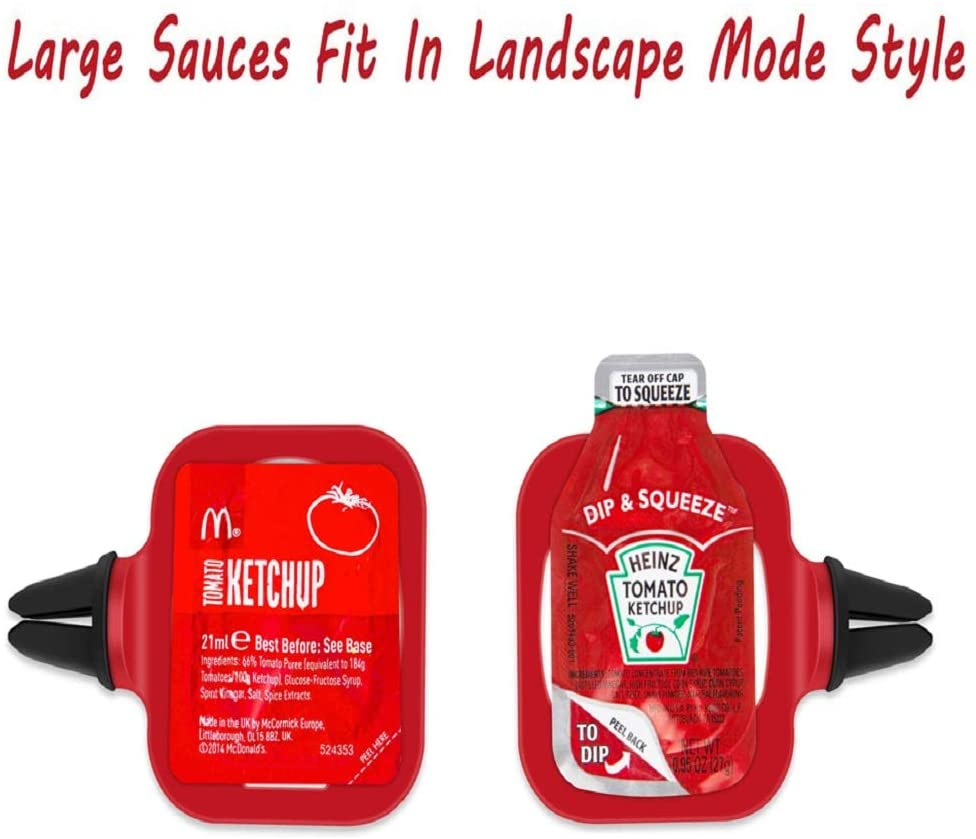 Dip Clip: An in-car dip clip for ketchup and dipping sauces