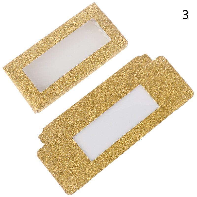 10set/lot 25mm Flash Blank Eyelashes Package Multicolor Paper Box Square